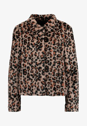 VMLEOPARD HIGH NECK FAUX FUR SHORT - Lehká bunda - silver mink