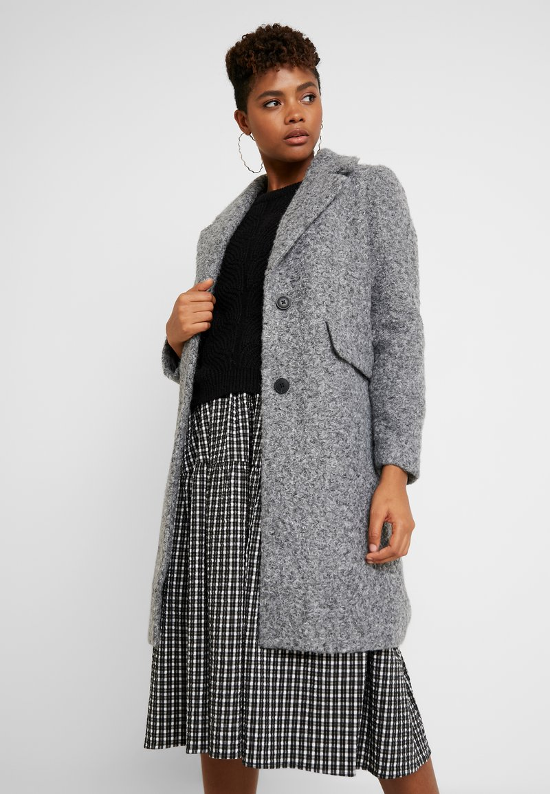 Vero Moda - VMCOZYDIANA JACKET - Classic coat - medium grey melange