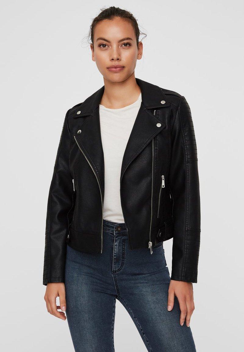 Vero Moda - Faux leather jacket - black