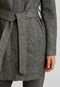 Vero Moda - VMJULIAVERODONA HIGHNECK - Krótki płaszcz - dark grey melange - 5