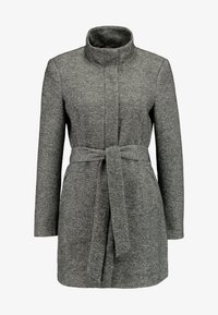 Vero Moda - VMJULIAVERODONA HIGHNECK - Short coat - dark grey melange - 4
