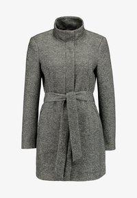 Vero Moda - VMJULIAVERODONA HIGHNECK - Krótki płaszcz - dark grey melange - 4