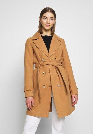 VMCALA - Classic coat - tobacco brown