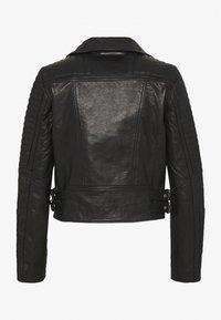 Vero Moda - VMALICIA SHORT JACKET - Leren jas - black - 1