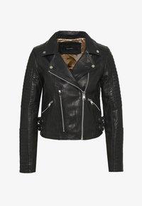 Vero Moda - VMALICIA SHORT JACKET - Leren jas - black - 0