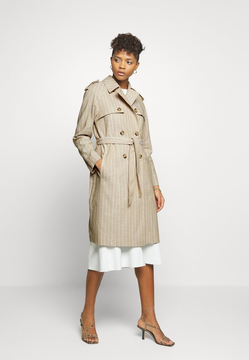 Vero Moda - VMPOPPYKENZIE LONG - Trench - travertine