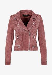 Vero Moda - Veste en cuir - rose - 4