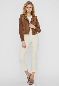 Vero Moda - Leren jas - tobacco brown - 1