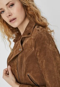 Vero Moda - Leren jas - tobacco brown - 3