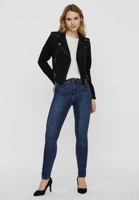 Vero Moda - Leren jas - black - 1