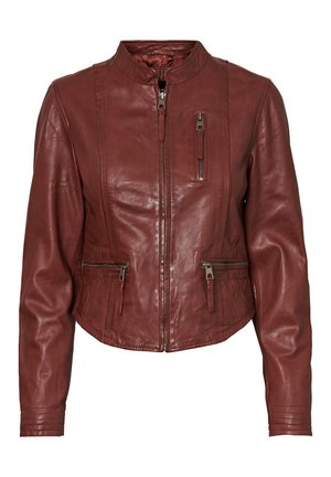 Leather jacket - sable