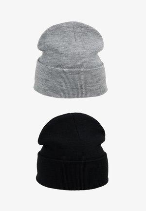 Gorro - light grey melange/black