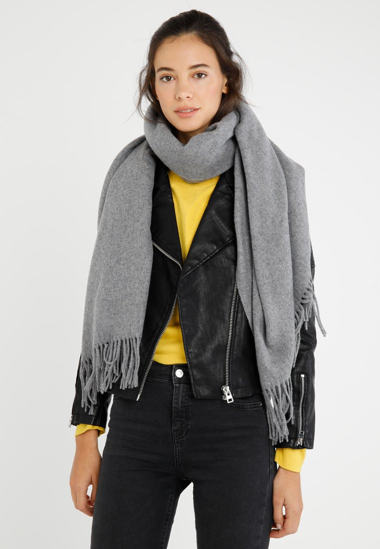 Vero Moda - VMANA WOOL LONG SCARF - Écharpe - medium grey melange
