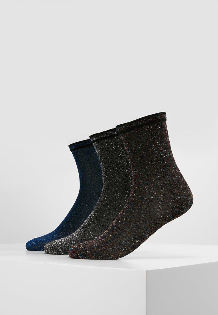 Vero Moda - VMDORIS SPORT GLITTER SOCKS 3 PACK - Socken - black