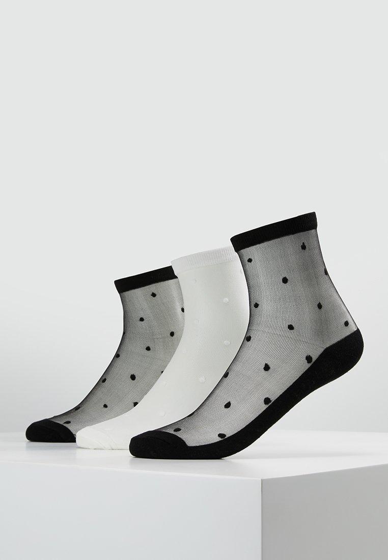 Vero Moda - VMDOTTINA 3 PACK - Calcetines - black