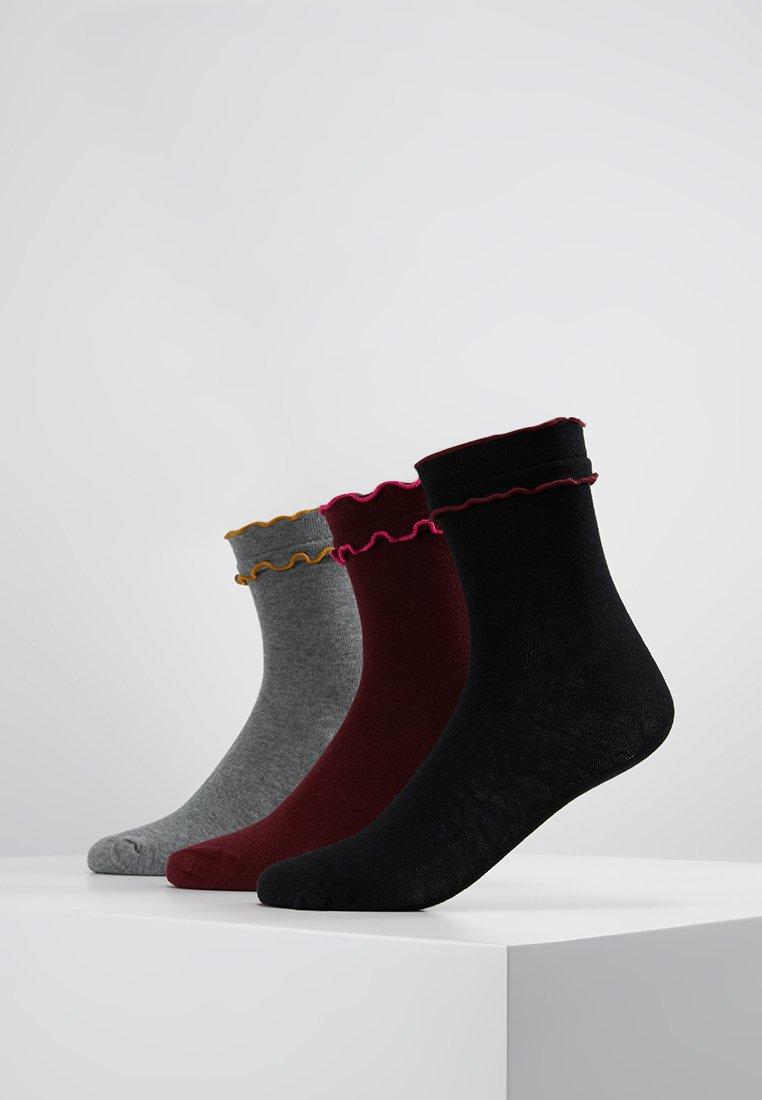 Vero Moda - VMBETTY SOCKS 3 PACK - Socks - black