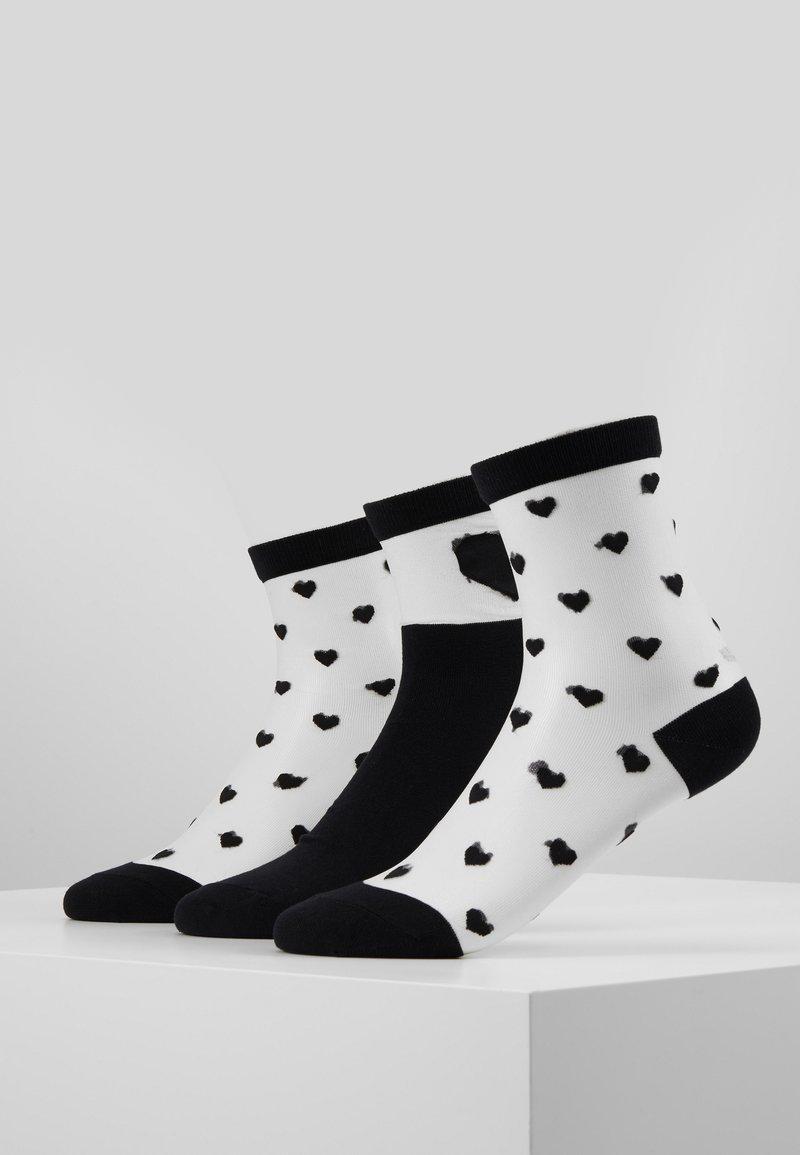 Vero Moda - VMVALENTINE SOCK GIFTBOX  3 PACK - Socks - black