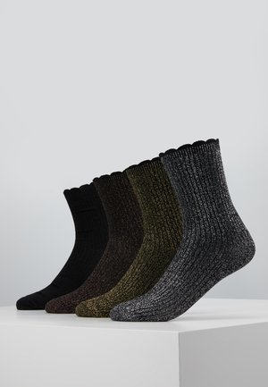 VMHATTIE SOCKS 4 PACK - Calcetines - black