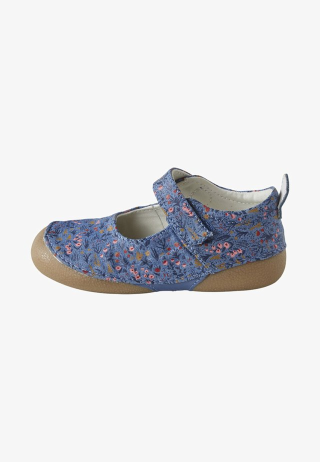 Baby shoes - mottled blue