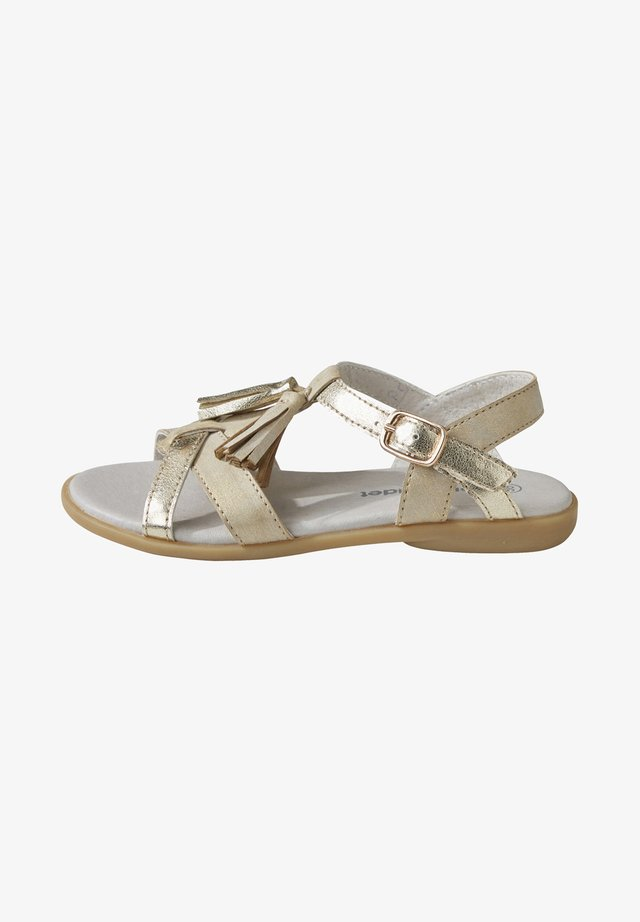 MIT POMPONS - Sandals - gold