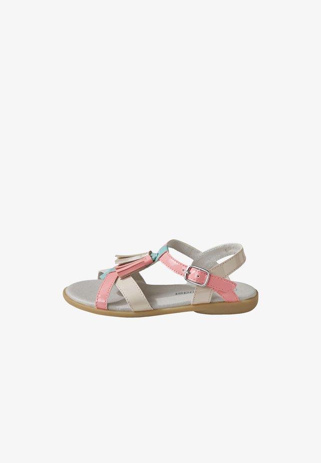 MIT POMPONS - Sandals - pink