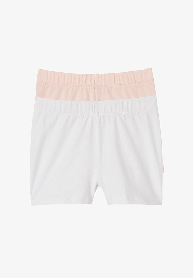 LOT DE 2 À PORTER SOUS ROBE - Shorts - weiß+zartrosa