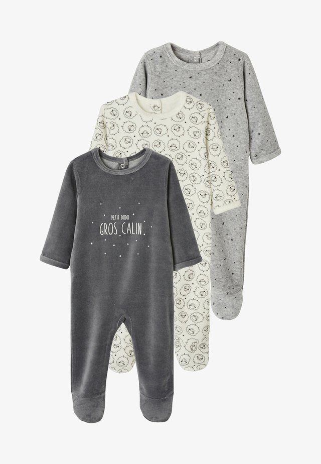 3 PACK - Baby's sleeping bag - pack anthracite