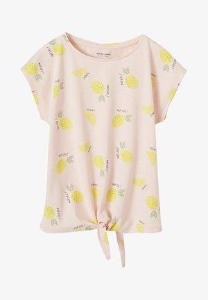 T-Shirt print - pink lemons