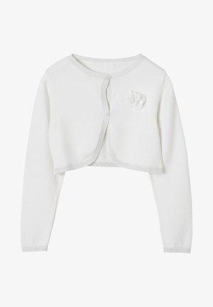 MIT MUSSELINBLUMEN - Cardigan - white