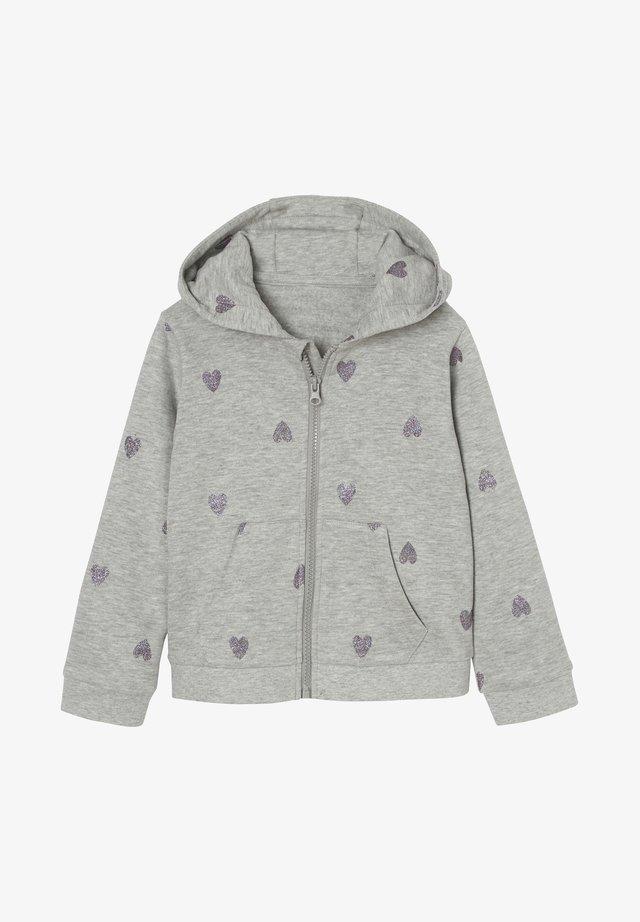 veste en sweat zippée - light grey mottled