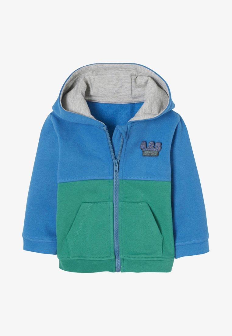 Vertbaudet - Zip-up hoodie - blue/green