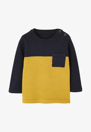 Pullover - midnight blue /yellow