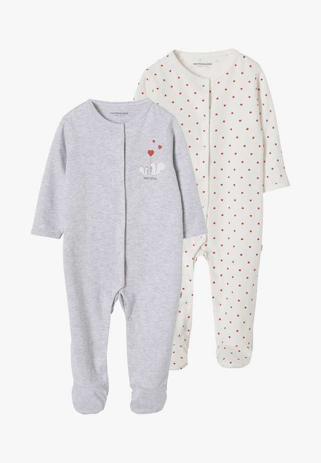 2 PACK - Sleep suit - grey/off-white