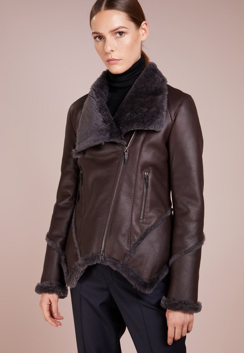 VSP - NEW KIERA JACKET - Lederjacke - brown