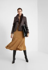 VSP - SHORT JACKET - Leather jacket - toscana dark mist - 1