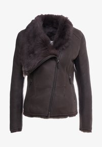 VSP - SHORT JACKET - Leather jacket - toscana dark mist - 5