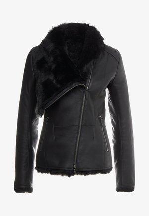 SHORT JACKET - Leren jas - toscana black