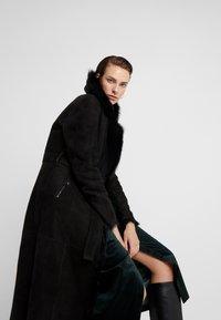 VSP - BELT COAT - Leather jacket - toscana black - 3
