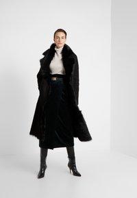 VSP - BELT COAT - Leather jacket - toscana black - 1