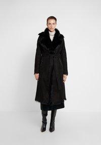VSP - BELT COAT - Leather jacket - toscana black - 0