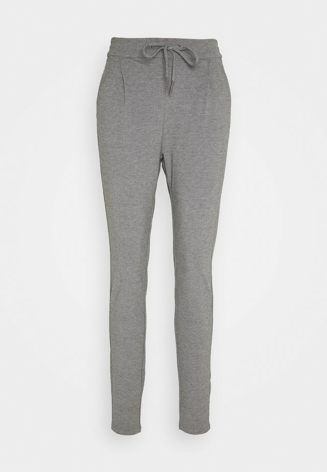 VMEVA LOOSE STRING PANTS  - Leggings - Trousers - medium grey melange