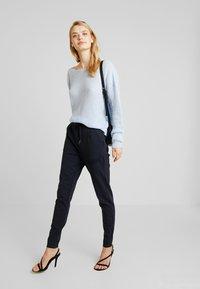 Vero Moda Tall - VMEVA LOOSE STRING PANTS  - Tracksuit bottoms - night sky - 2