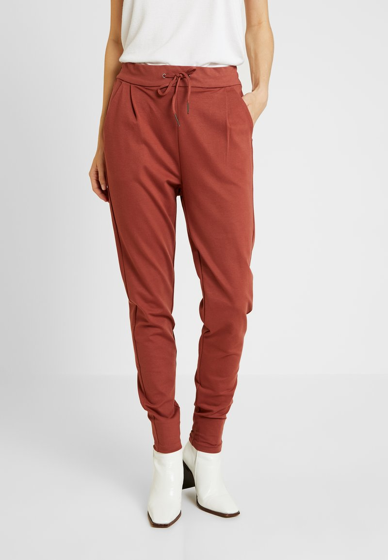 Vero Moda Tall - VMEVA LOOSE STRING PANTS  - Jogginghose - mahogany