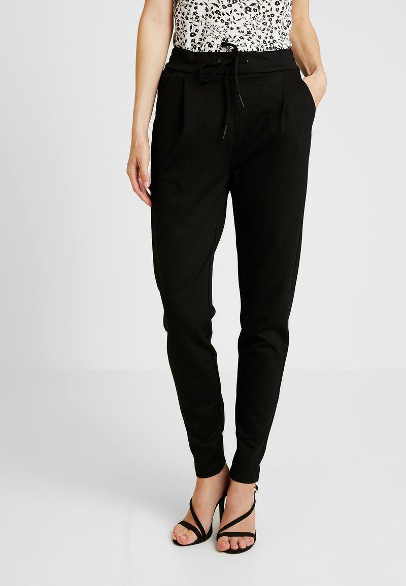 Vero Moda Tall - VMEVA LOOSE STRING PANTS  - Verryttelyhousut - black