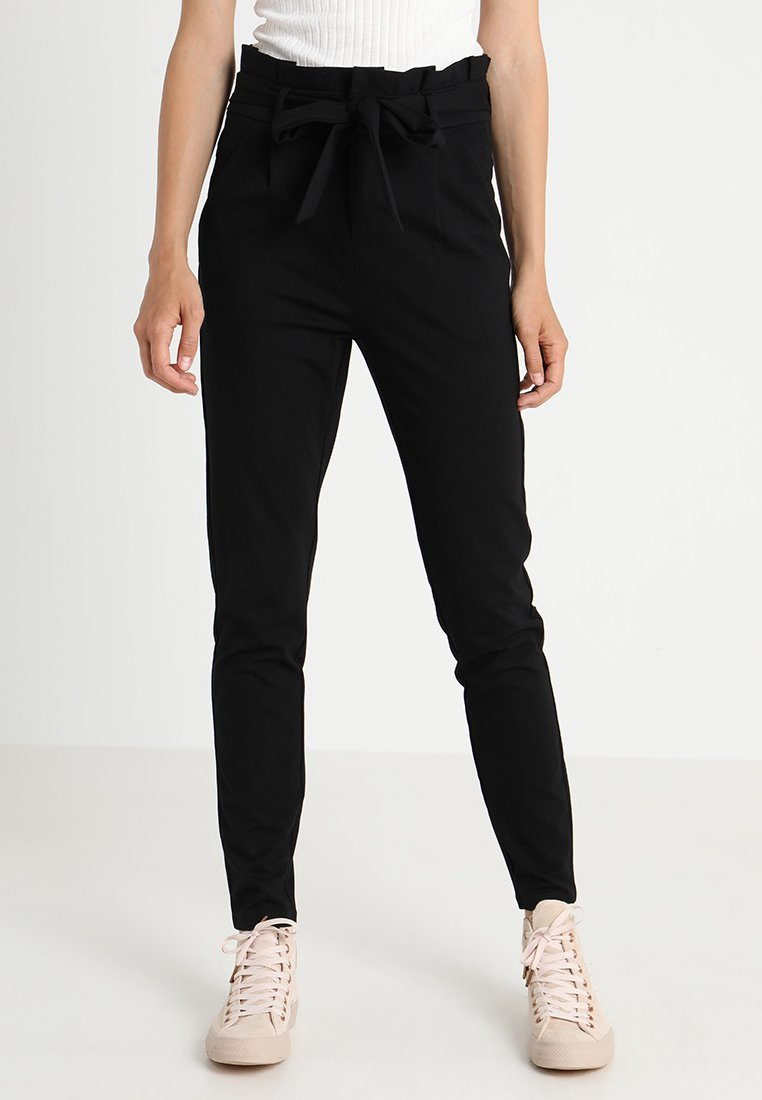 Vero Moda Tall - VMEVA  LOOSE PAPERBAG PANT  - Trousers - black