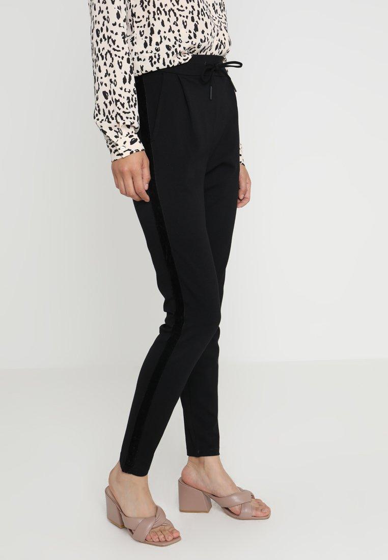 Vero Moda Tall - VMEVA LOOSE STRING TAPE  - Stoffhose - black