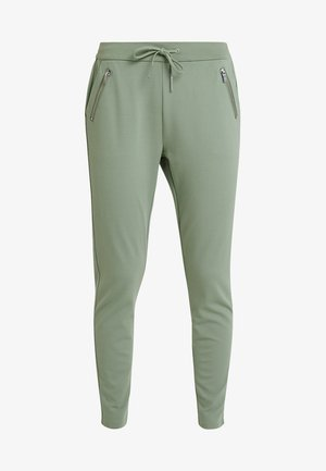 VMEVA LOOSE STRING ZIPPER PANT - Joggebukse - hedge green