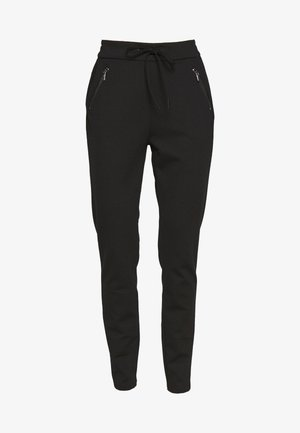 VMEVA LOOSE STRING ZIPPER PANT - Verryttelyhousut - black