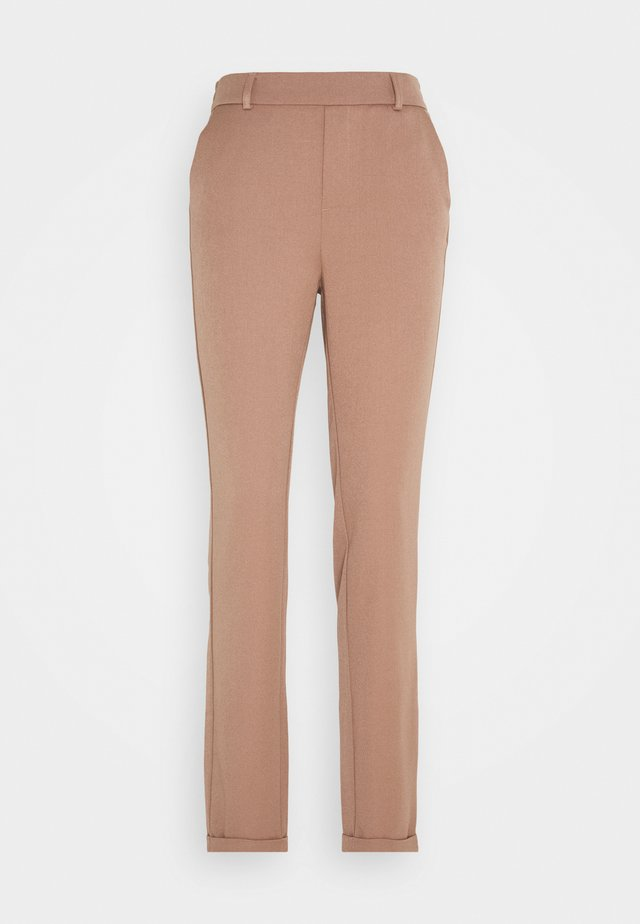 VMMAYA LOOSE SOLID PANT - Tygbyxor - brownie