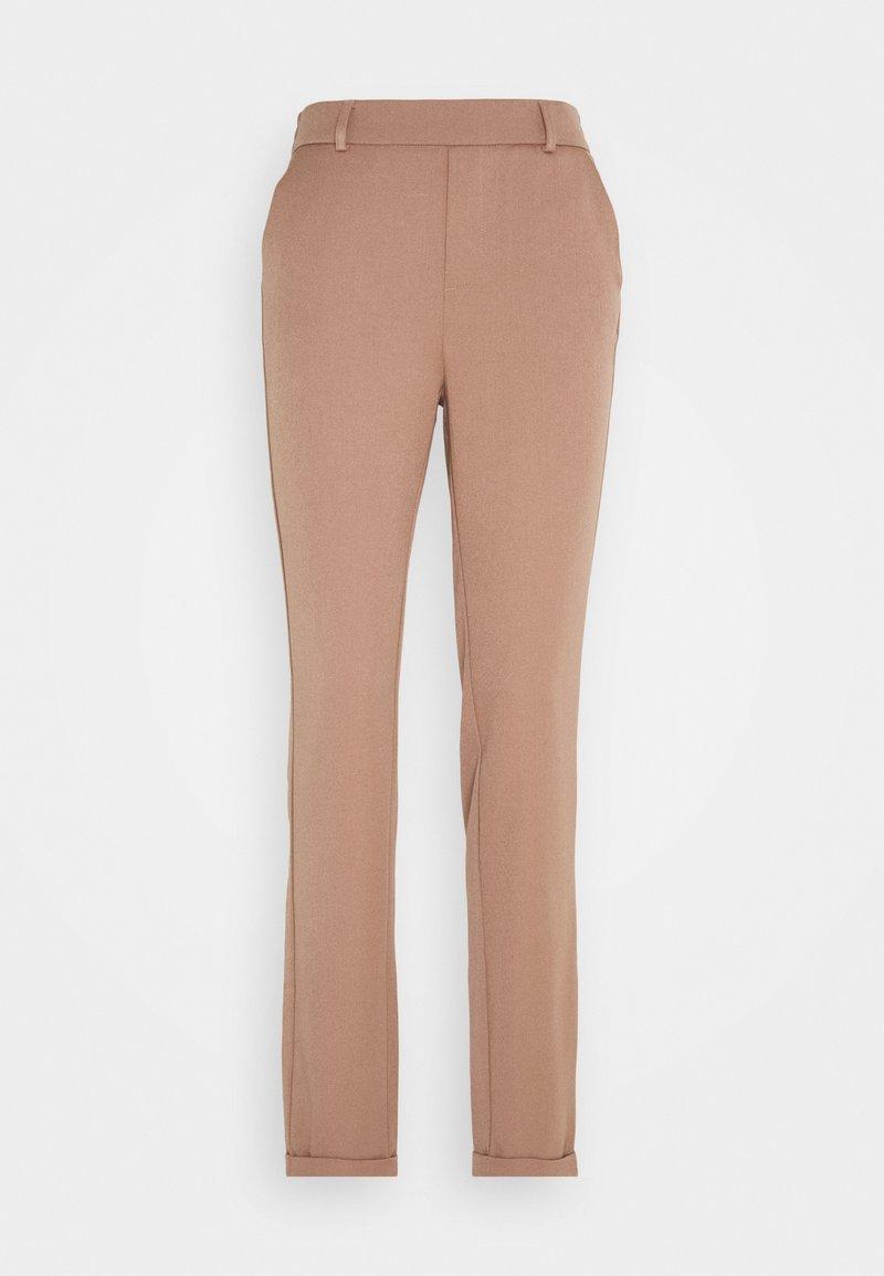 Vero Moda Tall - VMMAYA LOOSE SOLID PANT - Bukse - brownie